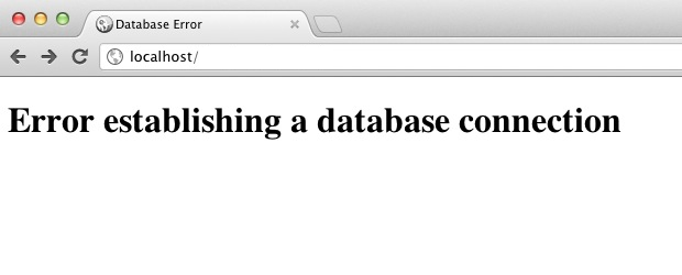 Create a WordPress database error page / Remi Corson