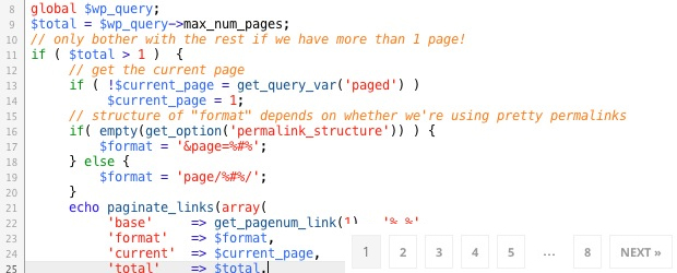 Create a custom WordPress Pagination in less than 10 lines of code