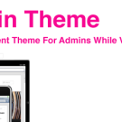Easy Admin Theme, free WordPress plugin